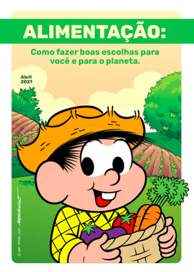 Turma da Mônica divulga cartilha estrelada por Chico Bento, que destaca a importância da agricultura