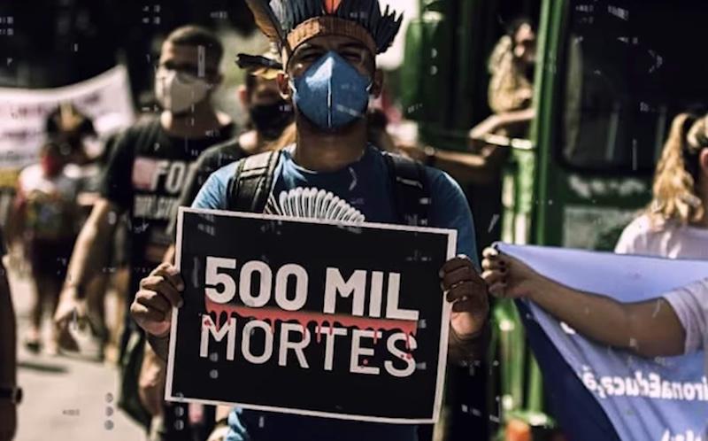 Mais de 500 mil mortos por covid-19, vacina, fome e desemprego levam milhares de brasileiros às ruas contra o governo Bolsonaro