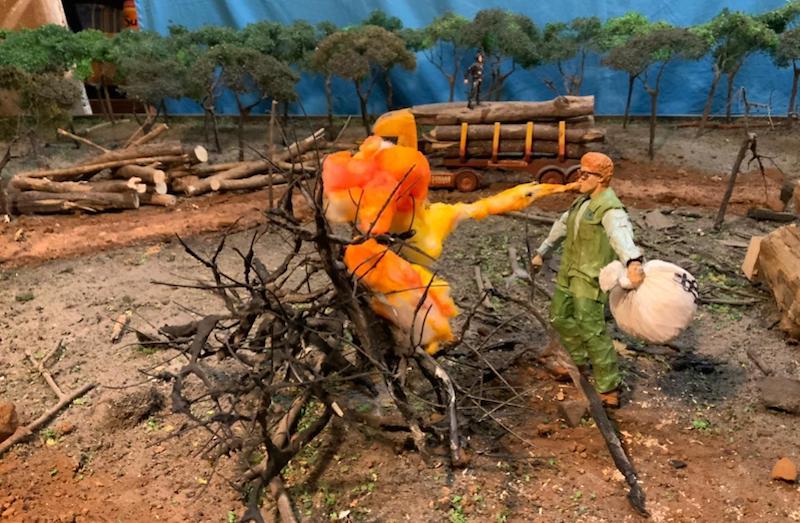 'Salles é preso pela natureza' na animação genial do artivista Mundano