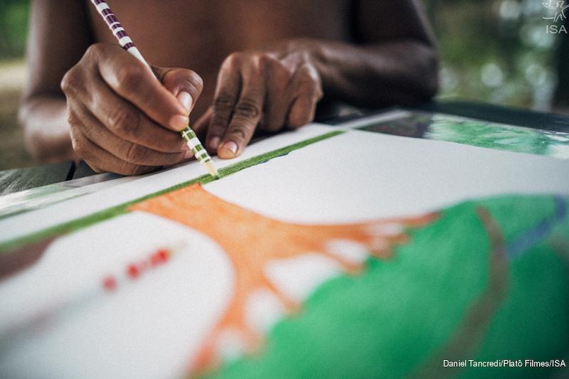 Artistas Yanomami expõem obras em mostra internacional, em Xangai, na China